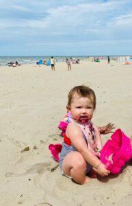 momsarahwithlove blog strand ouderschap zand zee liefde